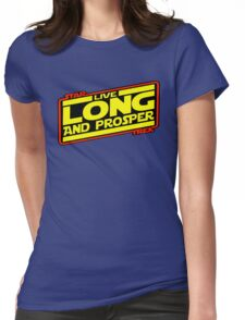 Live Long & Prosper Strikes Back Womens Fitted T-Shirt