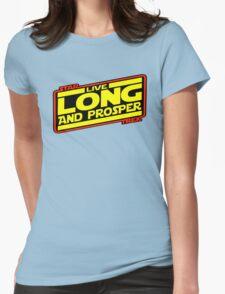 Live Long & Prosper Strikes Back Womens Fitted T-Shirt