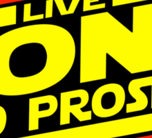 Live Long & Prosper Strikes Back Sticker