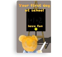 First Day at School 4 Canvas Print