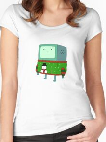 BMO - christmas Women's Fitted Scoop T-Shirt