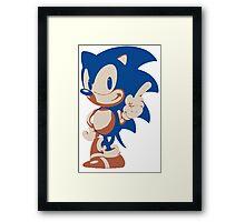 Minimalist Sonic 4 Framed Print