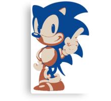 Minimalist Sonic 4 Canvas Print