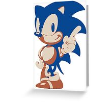 Minimalist Sonic 4 Greeting Card