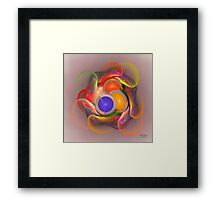 'Light Flame Abstract 097' Framed Print