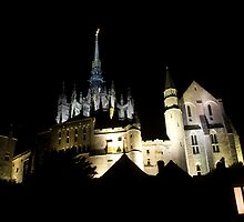 Mont St Michel At Night by 64iso