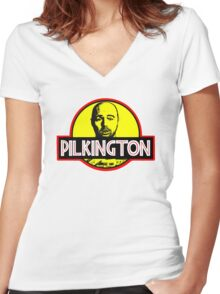Karl Pilkington Women's Fitted V-Neck T-Shirt