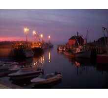 Shimmers at Night Photographic Print