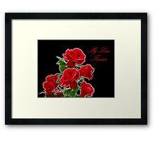 Valentine Roses Framed Print