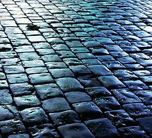 Wet paving in Saint Malo, France by 64iso