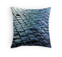 Wet paving in Saint Malo, France Throw Pillow