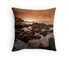 Last Light at Stolk Cove Throw Pillow