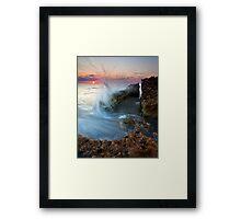 Eruption at Dawn Framed Print