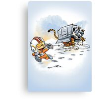 Attack of the Deranged Killer Snow Walkers Canvas Print