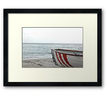 Rescue Boat Framed Print