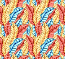 multicolored pattern of leaves by Tanor