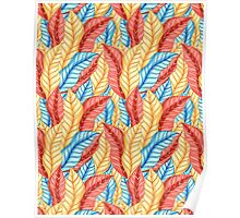 multicolored pattern of leaves Poster