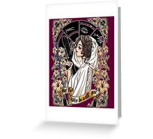 The force of the Princess Leia Greeting Card