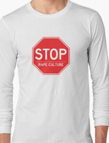 Stop Rape Culture Long Sleeve T-Shirt