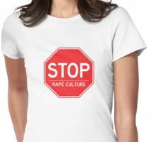Stop Rape Culture Womens Fitted T-Shirt