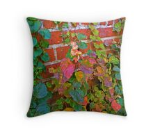 Wall of Ivy Throw Pillow