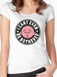 Karl Pilkington - I Cant Even Be Bothered Women's Fitted Scoop T-Shirt