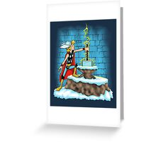 King Ar-THOR Greeting Card