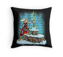 King Ar-THOR Throw Pillow