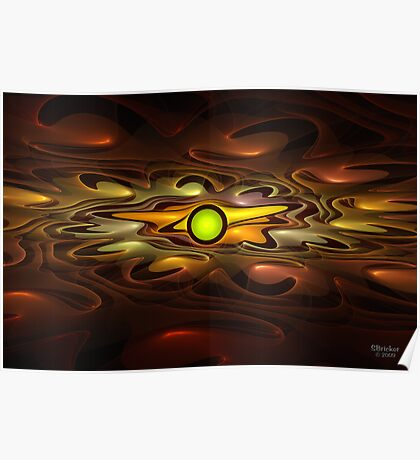 'Light Flame Abstracr 248' Poster