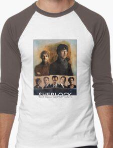 Sherlock Cast Portraits Men's Baseball ¾ T-Shirt