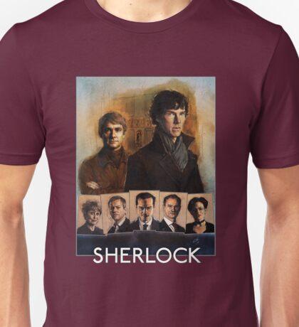 Sherlock Cast Portraits Unisex T-Shirt