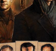 Sherlock Cast Portraits Sticker