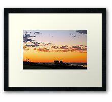 Spicy Glow Framed Print