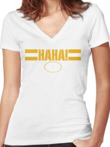 HAHA! Green Bay Women's Fitted V-Neck T-Shirt