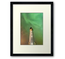 Lighthouse Aurora Framed Print