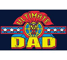 Ultimate Dad Superhero Father's Day Man Photographic Print