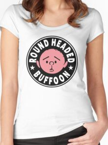Karl Pilkington - Round Headed Buffoon Women's Fitted Scoop T-Shirt