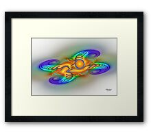 'Light Flame Abstract 161' Framed Print
