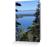 Fallen Leaf Lake as Seen from Angora Ridge Greeting Card