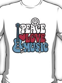 Patriotic Peace Love Music T-Shirt