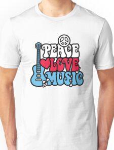 Patriotic Peace Love Music Unisex T-Shirt