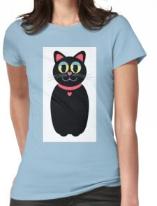 Cat Portrait Womens Fitted T-Shirt