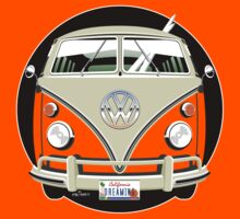 VW split-screen bus t-shirt by car2oonz