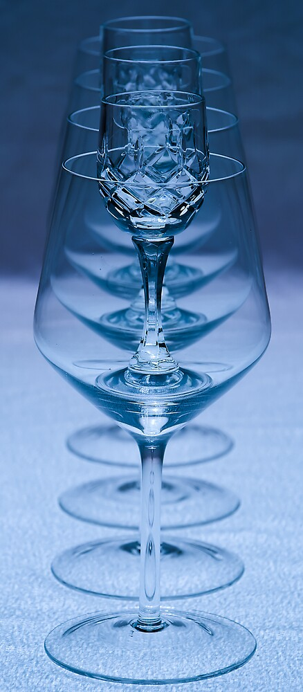 Wine glasses numbering seven by Leisel Thomas