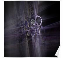 alien space modern galactic ufo modern,contemporary abstract digital purple Poster