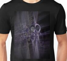 alien space modern galactic ufo modern,contemporary abstract digital purple Unisex T-Shirt