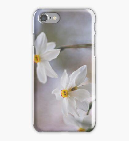 White Narcissus iPhone Case/Skin