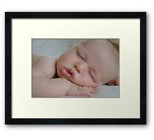 Precious Little Boy Framed Print