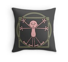 Karl Pilkington - Vitruvian Pilkington Throw Pillow