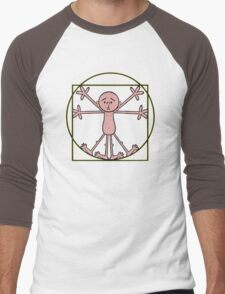 Karl Pilkington - Vitruvian Pilkington Men's Baseball ¾ T-Shirt